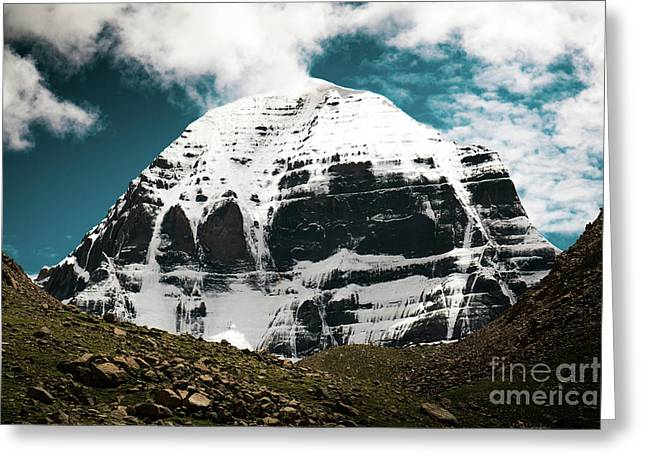 Holy Kailas North Slop Himalayas Tibet Yantra.lv Greeting Card