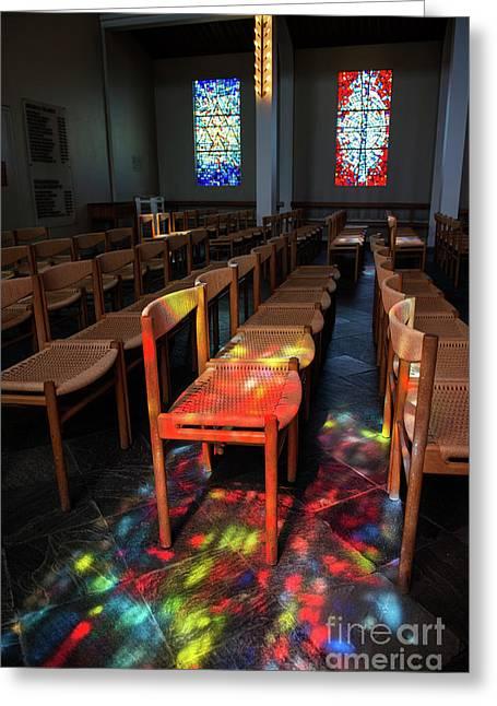 Holy Light.. Greeting Card by Nina Stavlund