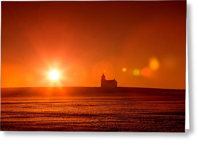 Holy Light Greeting Card by Todd Klassy