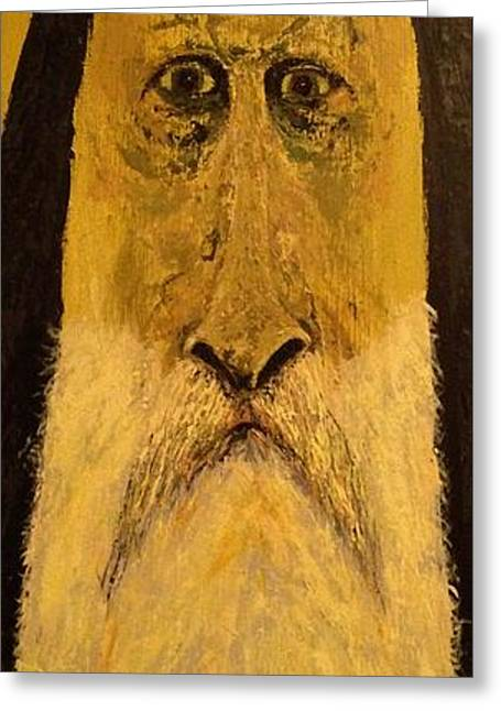 Holy Man Greeting Card by Nick Young