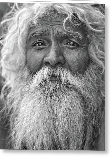 Holy Man - Such A Long Journey Bw Greeting Card by Steve Harrington