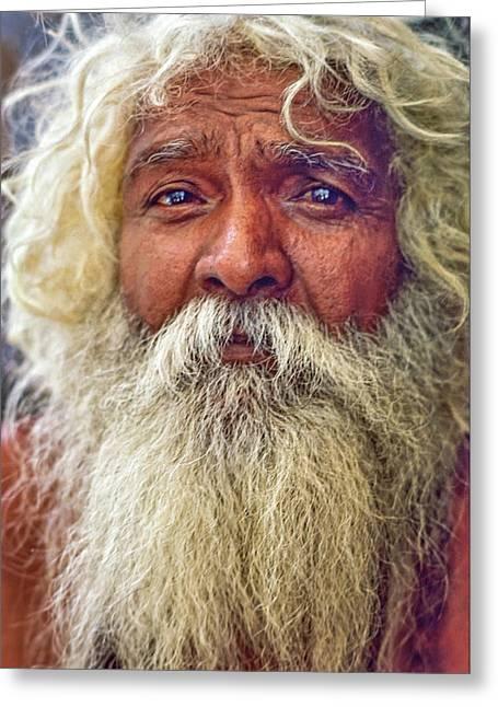 Holy Man - Such A Long Journey Greeting Card by Steve Harrington