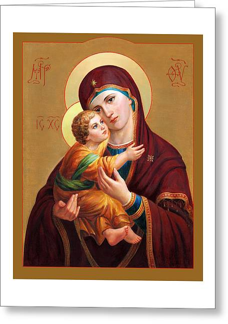 Holy Mother Of God - Blessed Virgin Mary Greeting Card by Svitozar Nenyuk