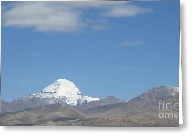 Holy Mount Kailash, Tibet Greeting Card by Mikhael van Aken