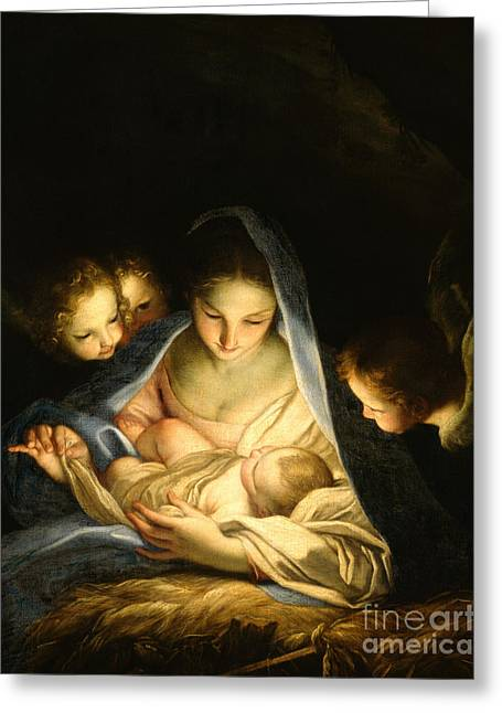 Holy Night Greeting Card by Carlo Maratta