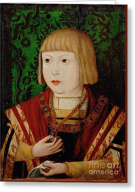 Holy Roman Emperor As A Young Archduke Greeting Card by Celestial Images