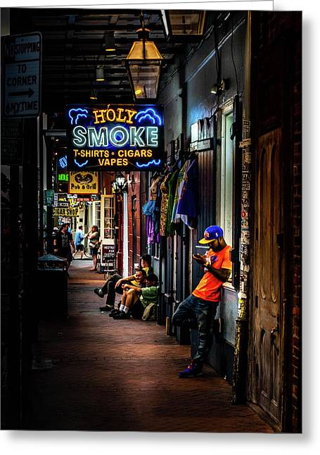 Holy Smoke Bourbon Street Greeting Card