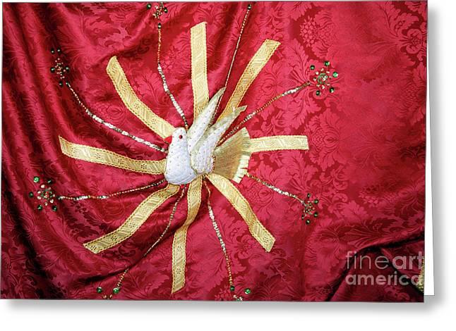 Holy Spirit Flag Greeting Card by Gaspar Avila
