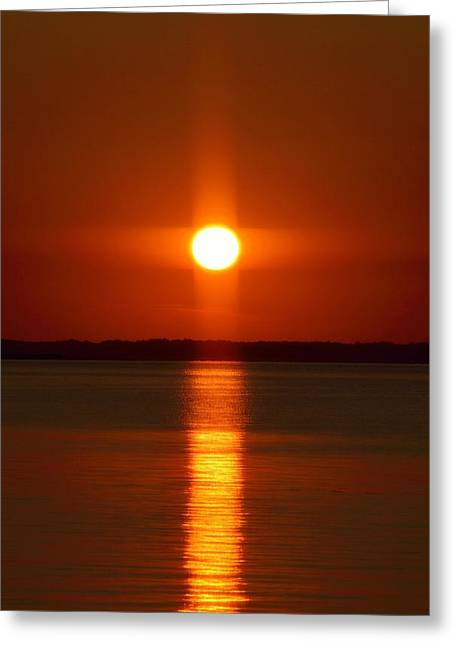 Holy Sunset - Portrait Greeting Card