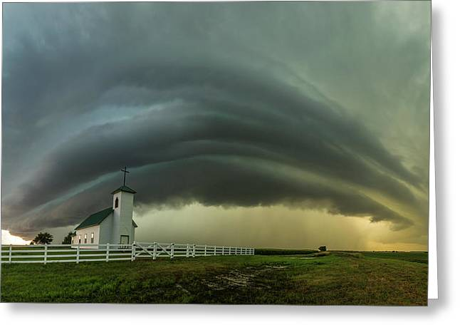 Greeting Card featuring the photograph Holy Supercell  by Aaron J Groen