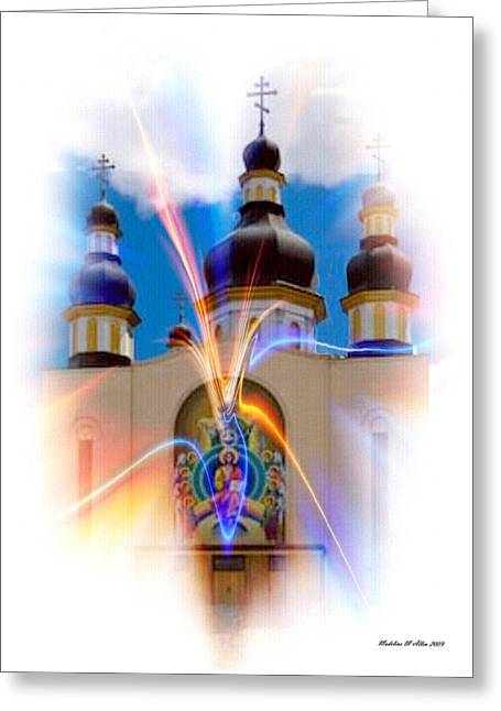 Holy Trinity Cathedral  Greeting Card by Madeline  Allen - SmudgeArt