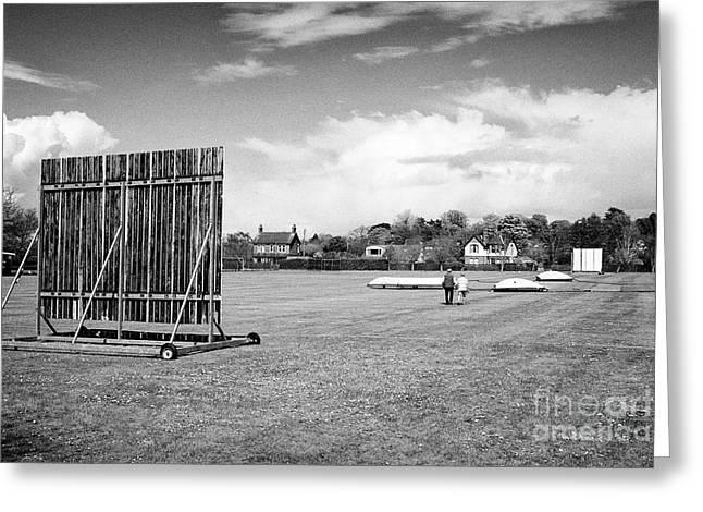 Holywood Cricket Club Pitch Northern Ireland Greeting Card