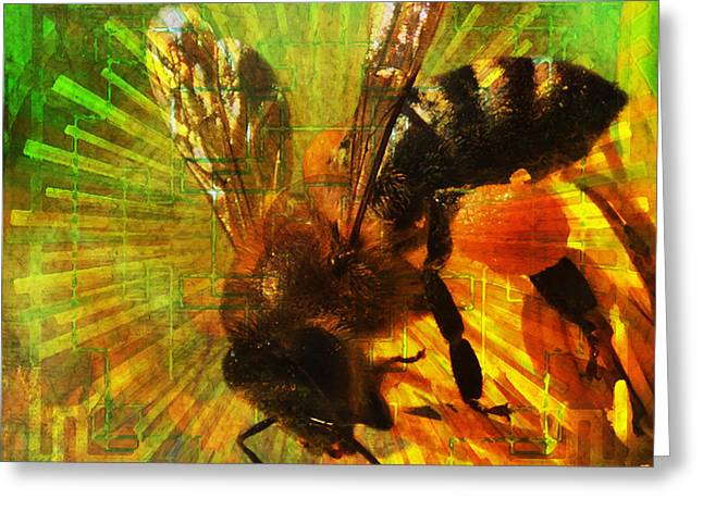 Homage To A Bee 2015 Greeting Card