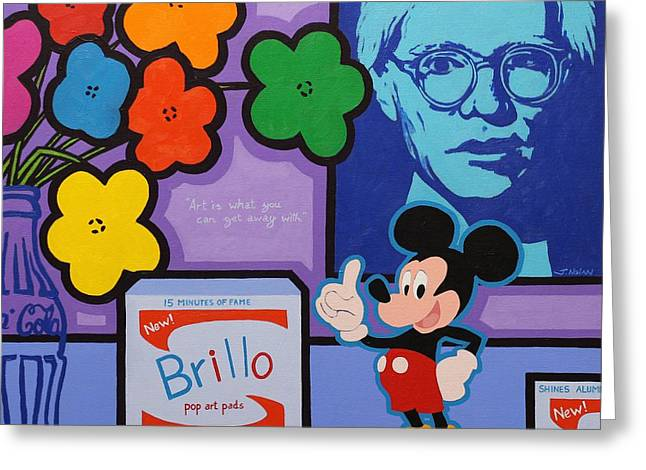 Homage To Andy Warhol Greeting Card by John  Nolan