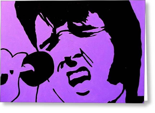 Homage To Elvis Greeting Card by John  Nolan