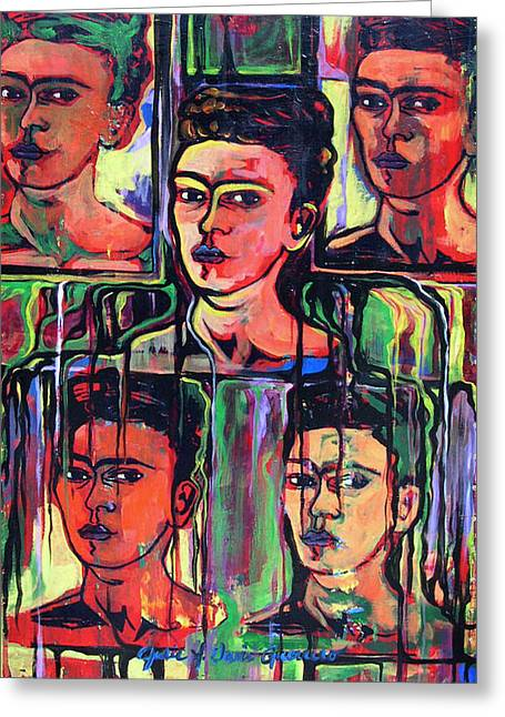 Homage To Frida Kahlo Greeting Card