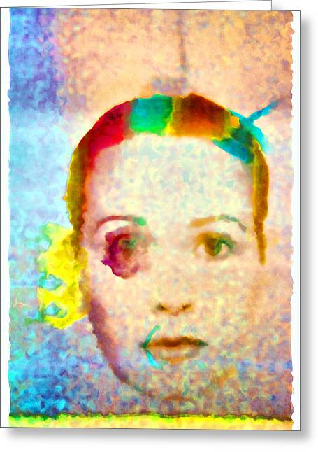 Homage To Georges Seurat Greeting Card by Andrei SKY