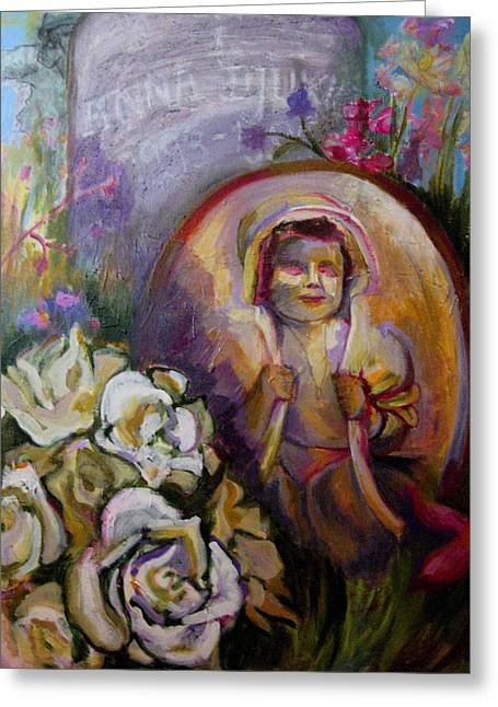 Homage To Lost Children Greeting Card by Connie Freid