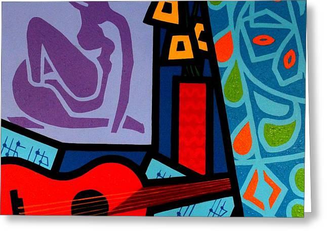 Homage To Matisse II Greeting Card by John  Nolan