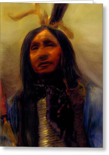 Greeting Card featuring the painting Homage To The Ancient Ones by FeatherStone Studio Julie A Miller