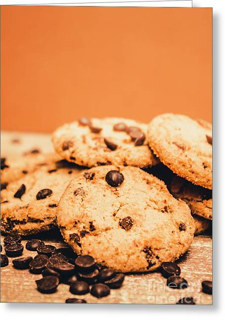 Home Baked Chocolate Biscuits Greeting Card by Jorgo Photography - Wall Art Gallery