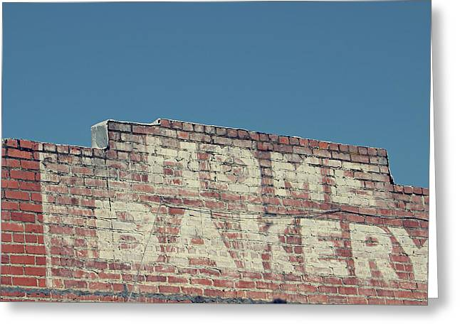 Home Bakery- Photo By Linda Woods Greeting Card by Linda Woods
