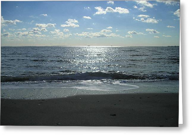Home Beach Greeting Card by Silvie Kendall