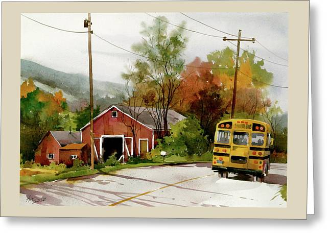 Home Bus Greeting Card