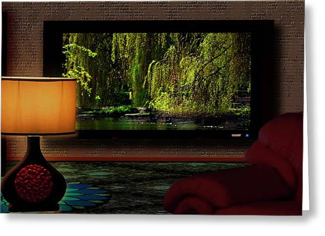 Home Cinema Lounge Greeting Card