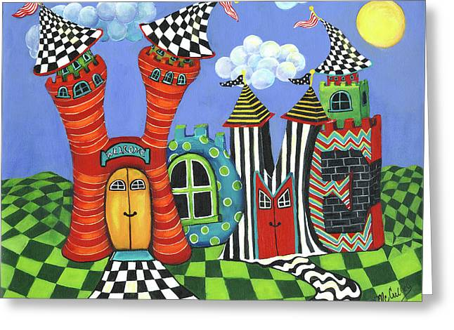 Home Greeting Card by Debbie McCulley