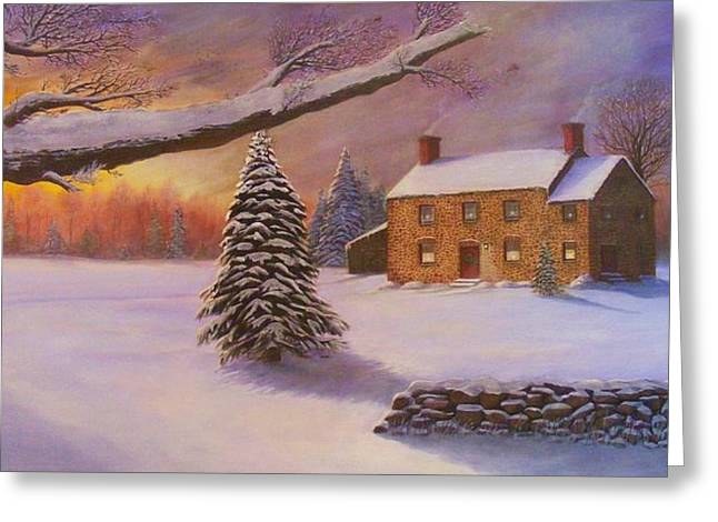 Home For The Holidays Greeting Card by Jean LeBaron