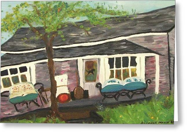 Home In Feeding Hills Mass Part 1 Greeting Card by Suzanne  Marie Leclair