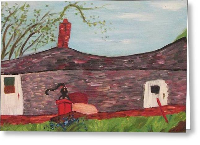 Home In Feeding Hills Part 2 Greeting Card by Suzanne  Marie Leclair