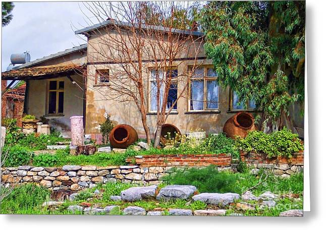 Greeting Card featuring the photograph Home In Greece by Roberta Byram
