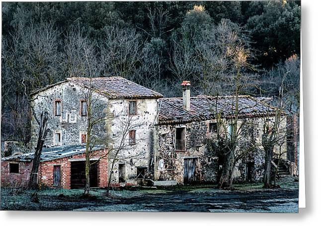 Home In La Garrotxa Greeting Card by Randy Scherkenbach