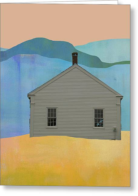 Old School House In New England Greeting Card by Jacquie Gouveia