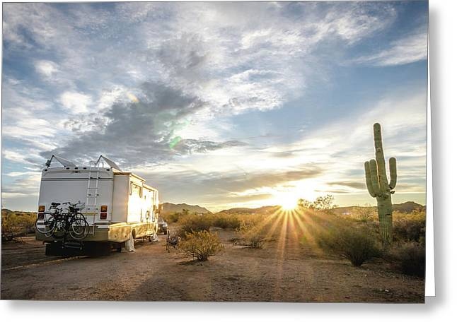 Home In The Desert Greeting Card