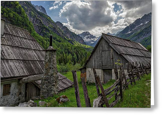Greeting Card featuring the photograph Home In The Slovenian Alps #2 by Stuart Litoff