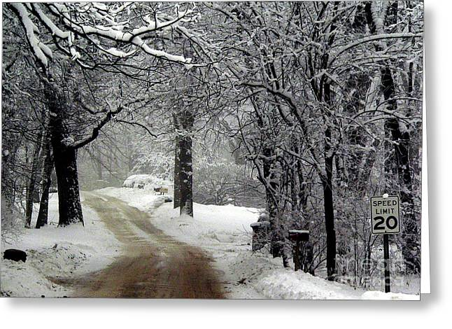 Home Is Just Around The Corner Greeting Card by David Bearden
