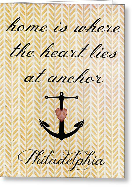 Home Is Philadelphia Anchor 2 Greeting Card