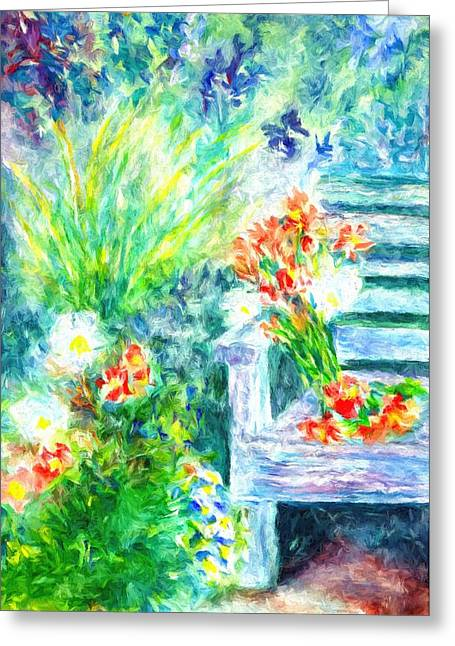 Home Greeting Card by Kathy Bassett