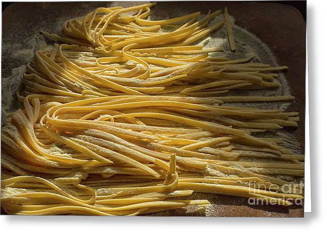 Home Made Pasta  Greeting Card by Patricia Hofmeester