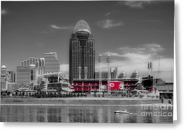 Greeting Card featuring the photograph Home Of The Cincinnati Reds by Mel Steinhauer