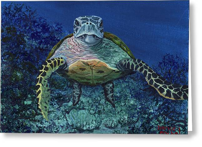Greeting Card featuring the painting Home Of The Honu by Darice Machel McGuire