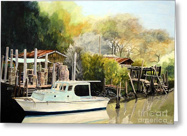 Home On The Canal Greeting Card