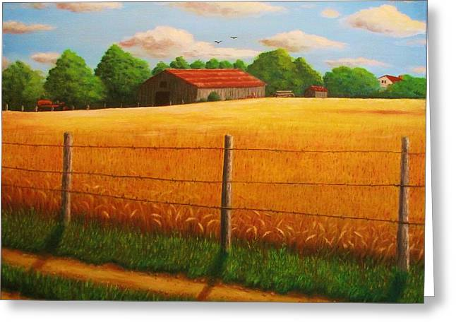 Home On The Farm Greeting Card