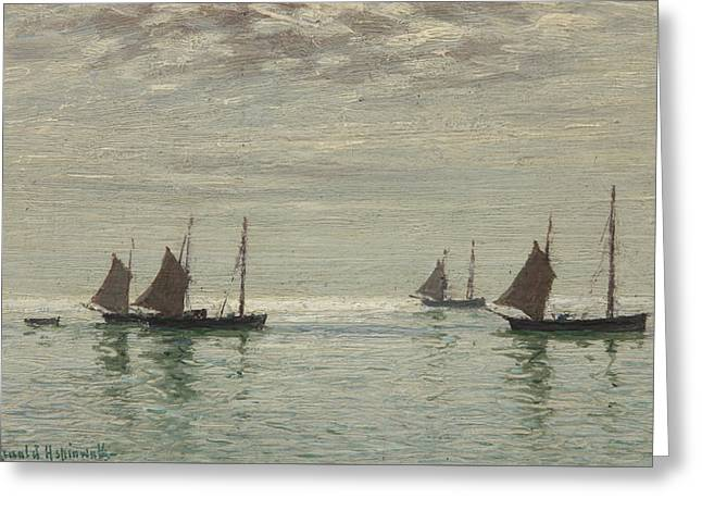 Home On The Morning Tide Greeting Card by Reginald Aspinwall