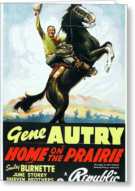 Home On The Prairie 1939 Greeting Card by Republic