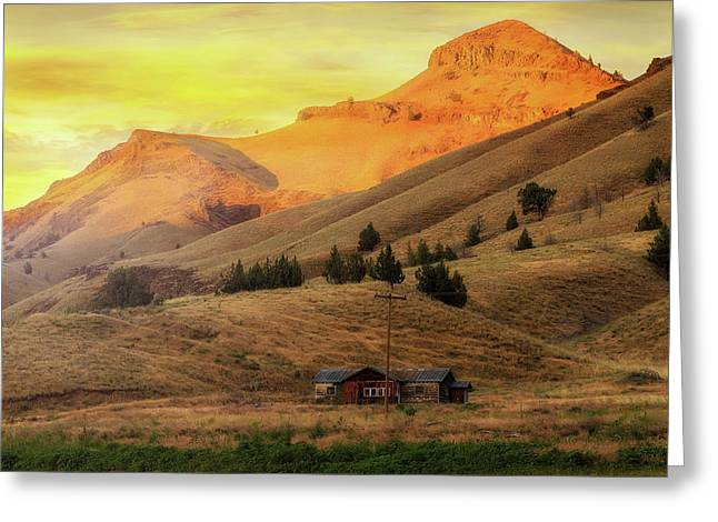 Home On The Range In Antelope Oregon Greeting Card by David Gn