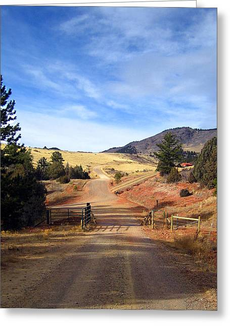 Julie Magers Soulen Greeting Cards - Home on the Range Greeting Card by Julie Magers Soulen